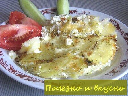 Картофельная запеканка с молоком и яйцом