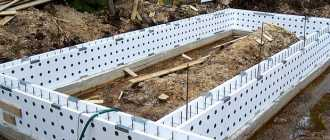 Несъемная опалубка для фундамента и стен своими руками из пенополистирола и других материалов