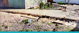 Дорожки в саду своими руками из цемента – как сделать на даче с малыми затратами