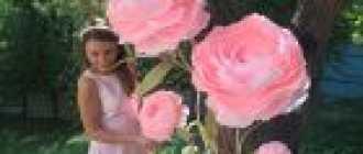 Большие цветы из гофрированной бумаги: как сделать своими руками объемные украшения