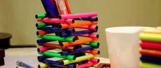 Подставка для карандашей из дерева: как сделать карандашницу своими руками