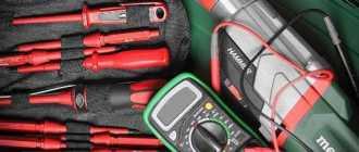 Необходимый набор инструментов электрика для работы