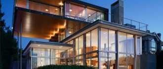 Дом с панорамными окнами: особенности, достоинства, недостатки, проекты