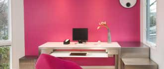 Цвет фуксия в интерьере: сочетание, фото (60 штук) в интерьере спальни, гостиной, кухни