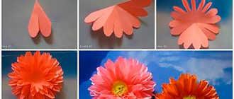 Цветы из полосок цветной бумаги своими руками для детей: как сделать поэтапно