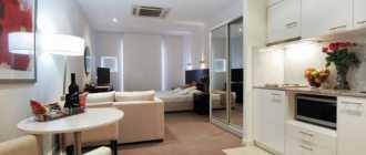 Дизайн однокомнатной квартиры: идеи обустройства, выбор цвета, расстановка мебели, фото