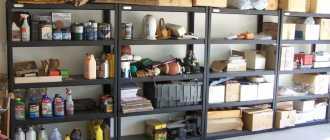 Полки и стеллажи для гаража своими руками: схемы, чертежи, фото, видео