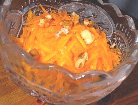 полезный салат из тыквы с яблоком и морковью
